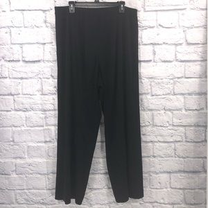 Exclusively Misook Women Plus Size 2x Black Pants